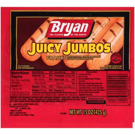 BRYAN JUICY JUMBOS 15 OZ