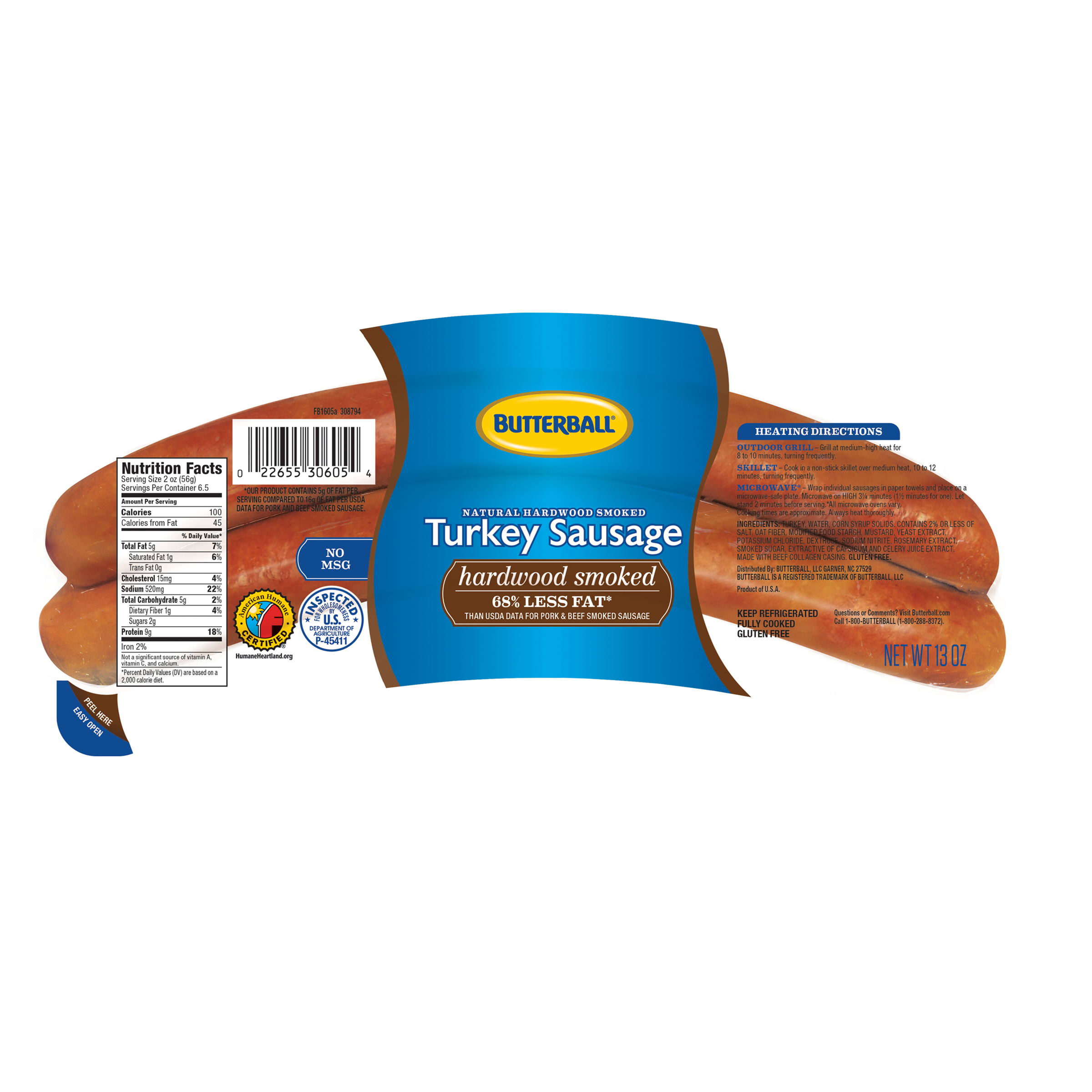 Butterball Turkey Smoked Sausage 14 oz